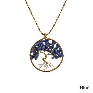 Handmade Charisma 30mm Tree of Life Brass Pendant Necklace (Thailand)