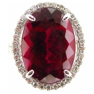 Kabella 18k White Gold Pink Tourmaline 3/5ct TDW Diamond Ring (G-H, SI1-SI2)