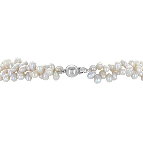 Sterling Silver 4-5mm FW Cultured Pearl Necklace