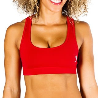 MissFit Activewear Red Compression Razorback Sports Bra