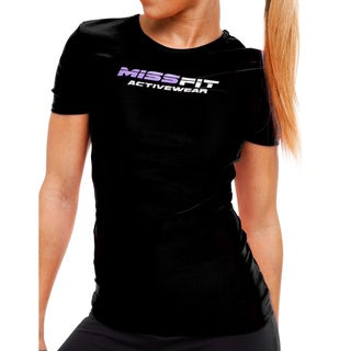 MissFit Activewear Black Graphic Athletic Top