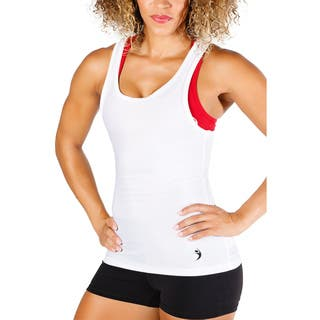 MissFit Activewear White Razorback Tank Top|https://ak1.ostkcdn.com/images/products/10461230/P17552721.jpg?impolicy=medium