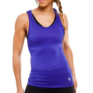 MissFit Activewear Purple Razorback Tank Top