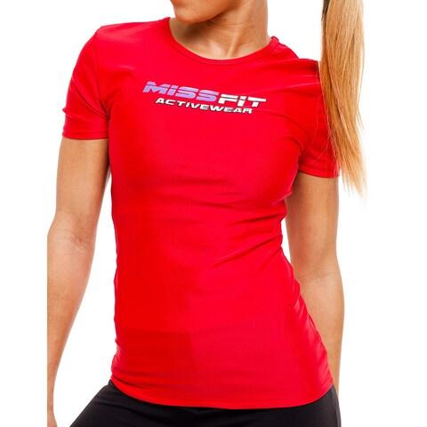 MissFit Activewear Red Logo Athletic Top
