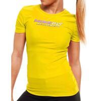 MissFit Activewear Yellow Logo Athletic Top