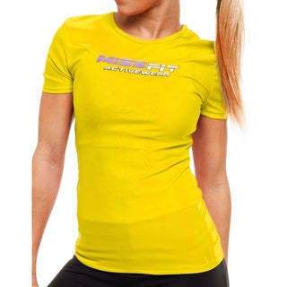 MissFit Activewear Yellow Logo Athletic Top