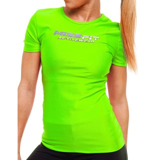 MissFit Activewear Neon Green Logo Athletic Top