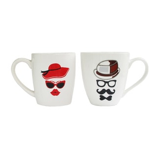 His and Hers Hat Mug (Set of 2)