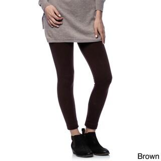 Women's Solid Fleece Leggings (Set of 2)