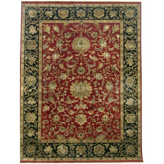 Hand-knotted Riviera New Zealand Wool Red Oriental Rug (10' x 14')