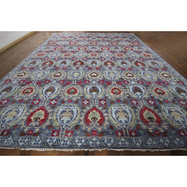 Modern Oushak Rug: Shop Hand-knotted Modern Oushak Turkish Knotted Blue