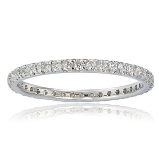 DB Designs 14K White Gold 1/2ct TDW Diamond Eternity Band Ring (G-H, I2)
