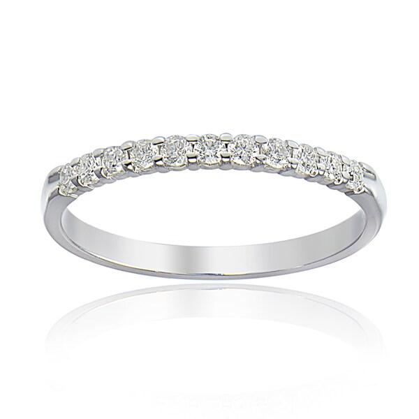 DB Designs 14K White Gold 1/4ct TDW Diamond Half Eternity Band Ring (G-H, I2)