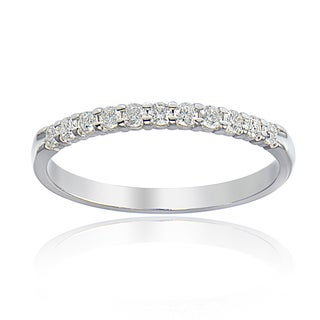 DB Designs 14K White Gold 1/4ct TDW Diamond Half Eternity Band Ring (G-H, I2)
