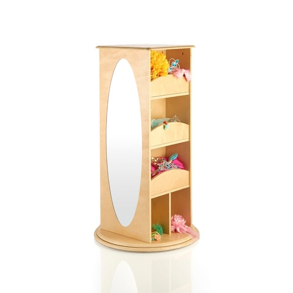 Shop Guidecraft Natural Rotating Dress Up Storage Unit