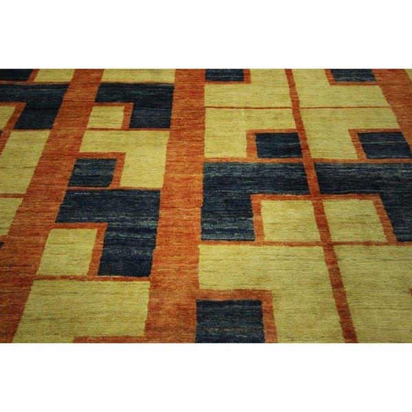 Burnt Orange Gabbeh Wool