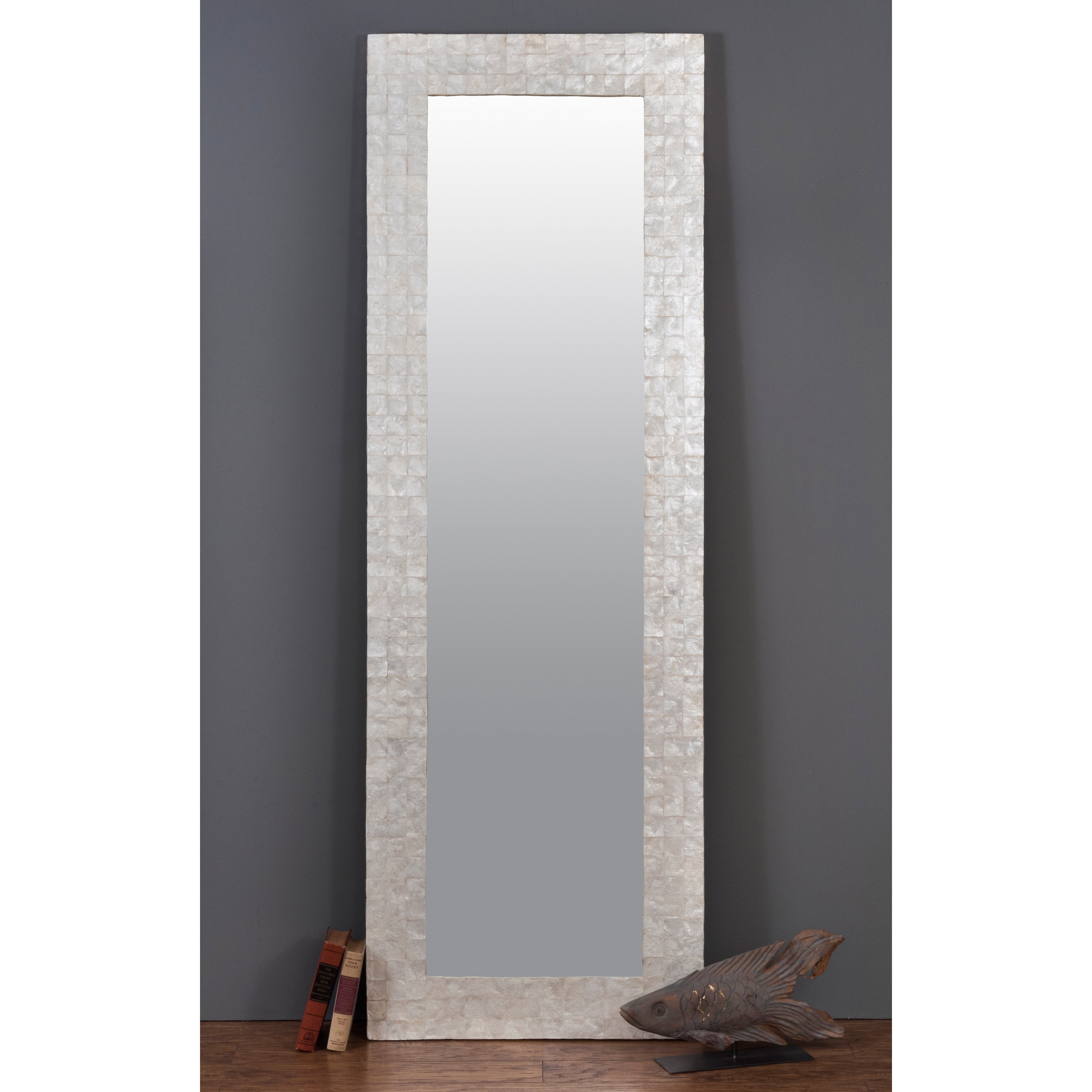 Albany Capiz Shell Accented Off White Mirror Overstock 10461687