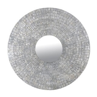 Grove Silver Round Mirror