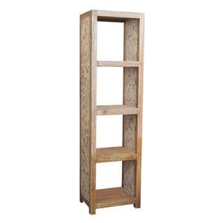 Crawford Rustic White Wah Tall bookcase