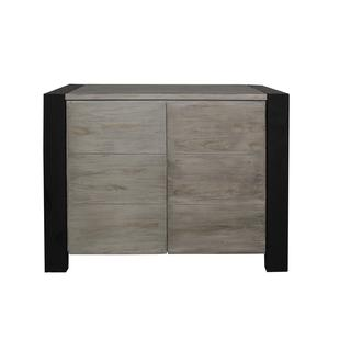 East At Main's Fairplay Traditional Grey Wash TV Cabinet