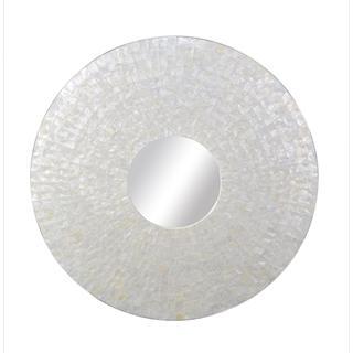 Pendleton Round White Mirror