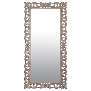 "Coquille 78"" Grey Rectangular Accent Mirror"