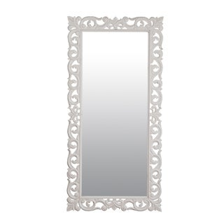 "Aumsville 78"" Vintage White Rectangular Accent Mirror"