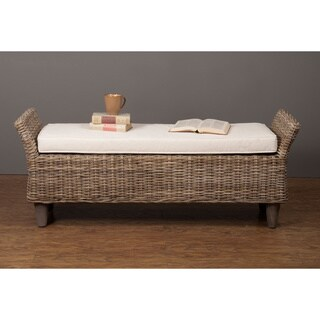 Barrie Casual Brown Distressed Bench