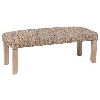 Renton Casual Off-White Woven Bench