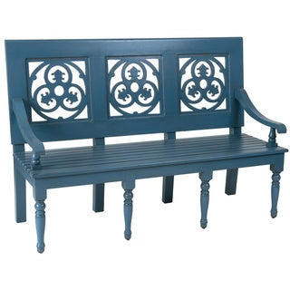 Prosser Rustic Blue Bench