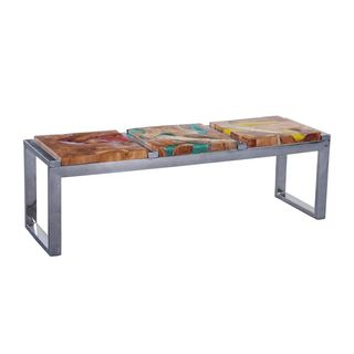Elgin Contemporary Brown Polished Bench