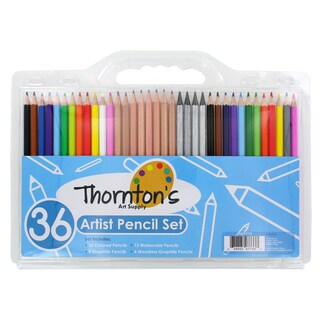 Thornton's Art Supply 36 Count Professional Hi-Quality Artist Colored Pencil Set