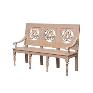 Prosser Antique Tan Distressed Bench