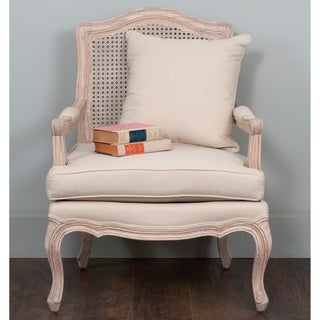 Chavanon Wood Amp Cotton Traditional French Accent Chair