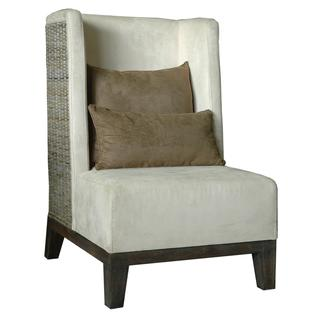 Warren Contemporary Off-White Textured Chair