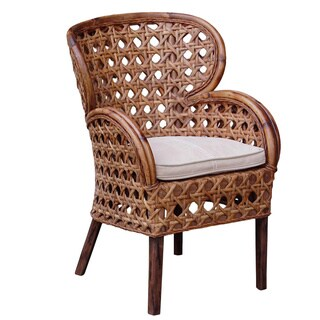 Sumas Transitional Brown Distressed Chair