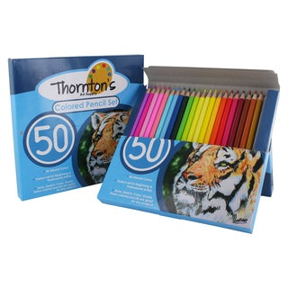 Thornton's Art Supply 50 Piece Colored Pencil Artist Drawing Set