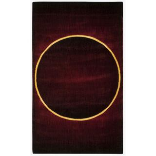 Nourison Parallels Burgundy Accent Rug (1'9 x 2'9)