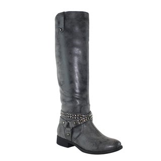 Olivia Miller 'Essex' Knee High Multi Studded Straps Riding Boots