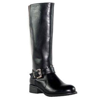Olivia Miller 'Hudson' Back Gore Zip Buckle Motorcycle Boots