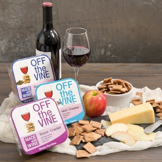 Off the Vine Red Wine Snack Crackers (Set of 3)