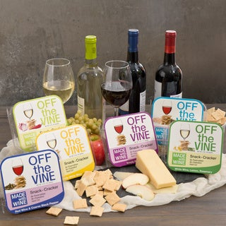 Off the Vine Red and White Wine Cracker Variety Bundle