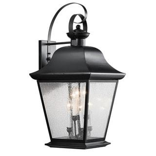 Kichler Lighting Mount Vernon Collection 6-light Black Outdoor Wall Lantern