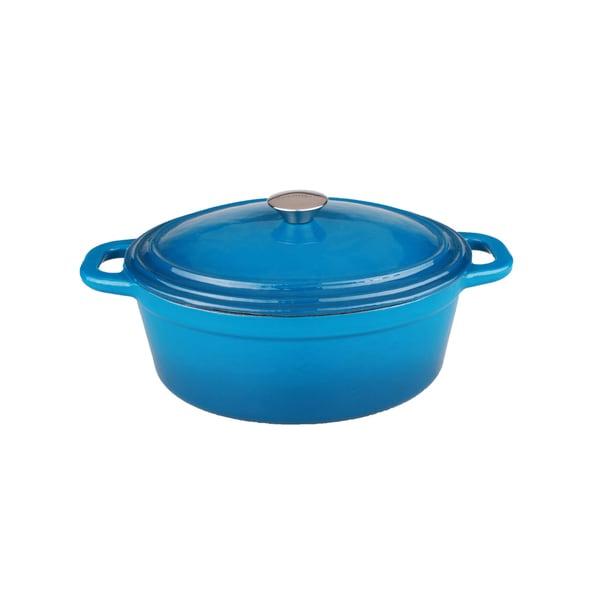 BergHOFF Neo 8-quart Blue Cast Iron Oval Covered Casserole Dish