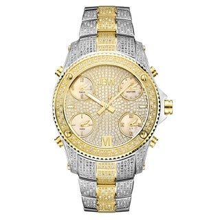 Jbw Men's Jet Setter Two-Tone Gold-Plated Stainless Steel Case Diamond Accented Watch