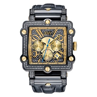 JBW Men's Phantom Black Stainless Steel Swiss Diamond Watch