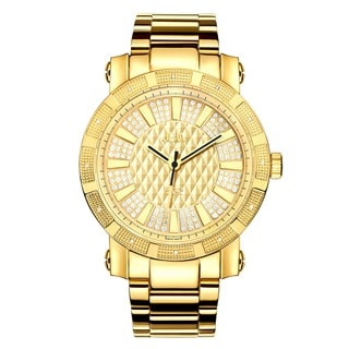JBW 562 18k Gold-plated Diamond Accented Bezel Watch