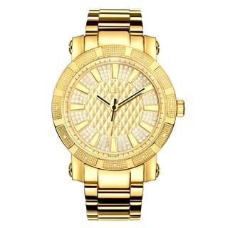 JBW 562 Gold Plated Diamond Accented Bezel Watch