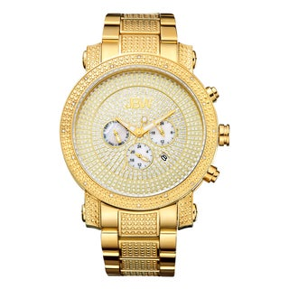 Victor Men's Gold-Plated Multi-Function Jb-8102-A Diamond Watch