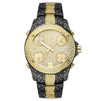 Jbw Men's Jet Setter Gold-Plated Stainless Steel Case Diamond Accented Watch